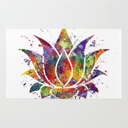 Lotus Flower 2 Watercolor Print Wall Art Wedding Gift Zen decor Rug