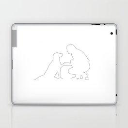 Girls best Friend is her dog - Minimalist line art Laptop & iPad Skin