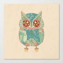 Steampunk owl Canvas Print