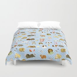 Guinea Pig Party! - Cavy Cuddles and Rodent Romance Duvet Cover