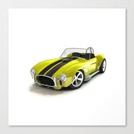 Cobra Roaster Yellow Black Strip Canvas Print