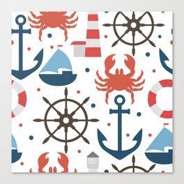 Sea white pattern Canvas Print