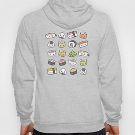 Happy kawaii sushi pattern Hoody