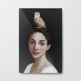 Miss Owl Metal Print