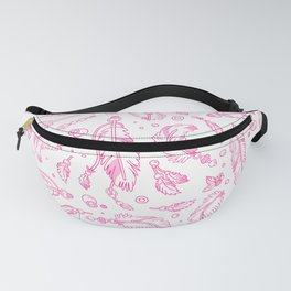 Pink Feathers Pattern Fanny Pack