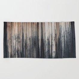 Weathered wood wall Beach Towel