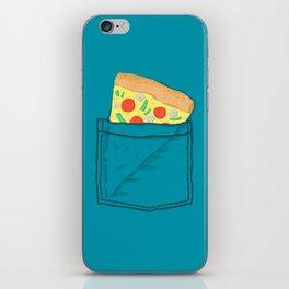 Emergency supply - pocket pizza iPhone Skin
