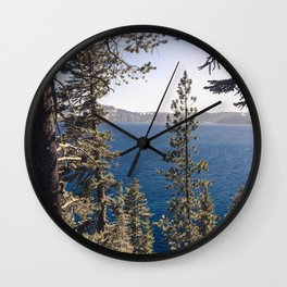 Hidden Lake Love - Nature Photography Wall Clock