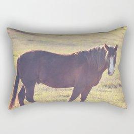 Chesnut Horse Rectangular Pillow
