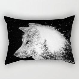 Winter Wolf Rectangular Pillow