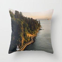 A Curvy Park - Vancouver, British Columbia, Canada Throw Pillow