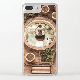 Courtyard Fountain Clear iPhone Case