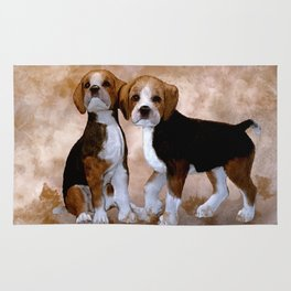 Young Beagle Rug