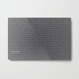 Web Design Keywords Poster. Strong Style. Metal Print