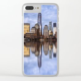 Cityscape of Financial District of New York Clear iPhone Case