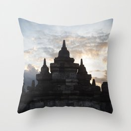 borobodur buddhist temple Throw Pillow