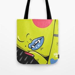 Vamp girl face Tote Bag