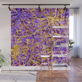Purple and Gold Celebration Wall Mural