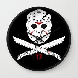 Jason mask Wall Clock