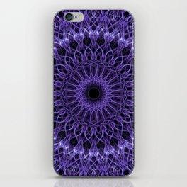 Detailed violet mandala iPhone Skin