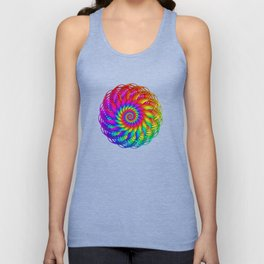 Psychedelic Rainbow Spiral Unisex Tank Top