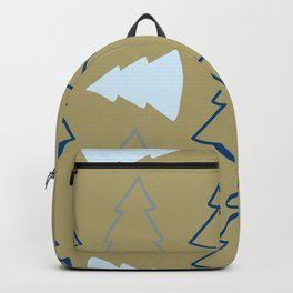 Blue and Silver Trees Backpack