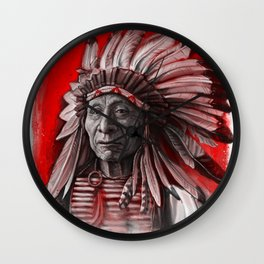 Red Cloud Wall Clock