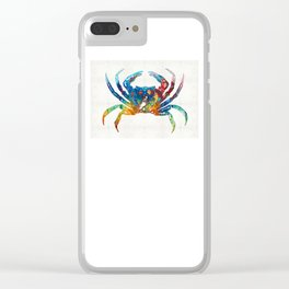 Colorful Crab Art by Sharon Cummings Clear iPhone Case
