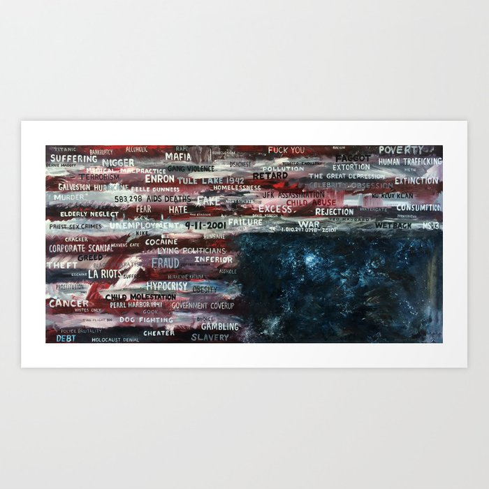 Your America (part 2 of 2, oil on canvas) Art Print