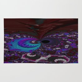 Hoarse Hallow Fractal - Abstract Art Rug