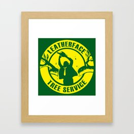 Leatherface Tree Service Framed Art Print