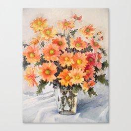 orange daisies Canvas Print