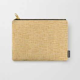Woven Burlap Texture Seamless Vector Pattern Yellow Carry-All Pouch