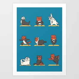 Yorkshire Terrier Yoga Art Print