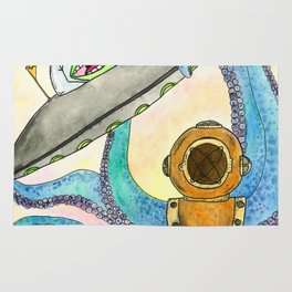 Alien vs Octopus Rug