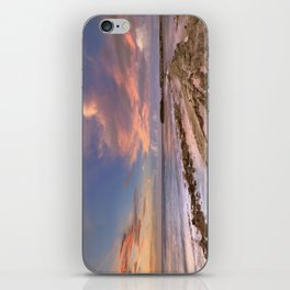 Rocky coast on the island of Curaçao at sunset iPhone Skin