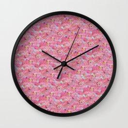 Chirimen Floral Pink Wall Clock