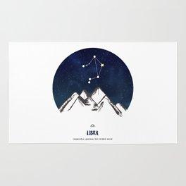 Astrology Libra Zodiac Horoscope Constellation Star Sign Watercolor Poster Wall Art Rug