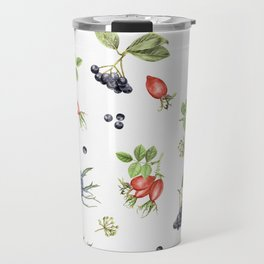 rosehip, chokeberries and teasel II Travel Mug