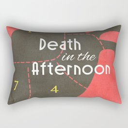 Death in the Afternoon, Erenst Hemingway, book cover, classic novel, bullfighting stories, Spain Rectangular Pillow
