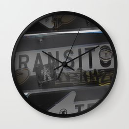 trans trans transito Wall Clock