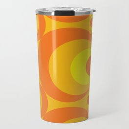 Crazy Orange Circles Travel Mug