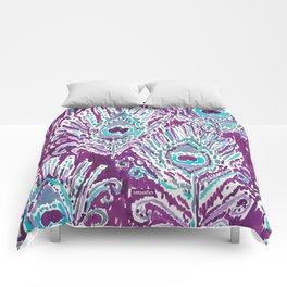 PEACOCKY - PLUM Comforters