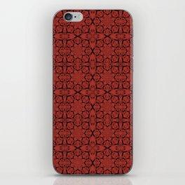 Aurora Red Geometric iPhone Skin