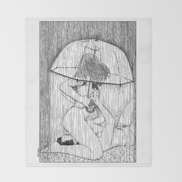 asc 514 - La fille qui aimait la pluie (Rider on the storm) Throw Blanket