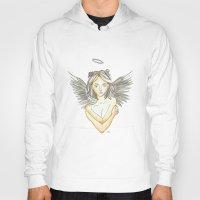 angel wings Hoodies featuring Angel by Megan West