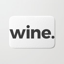wine. Bath Mat
