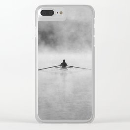Rowing On The Chattahoochee Clear iPhone Case