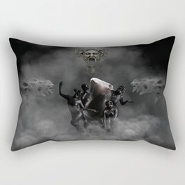Laughing at my disaster Rectangular Pillow