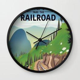 Go Explore! Take the Railroad Wall Clock